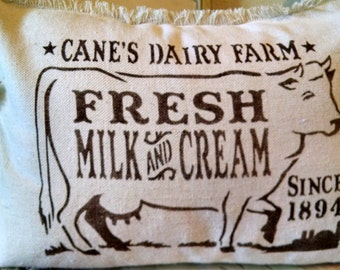 """12""""x16"""" Cane's Dairy Farm Recycled Cotton Canvas Pillow Cover"""