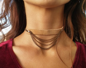 Heather's Nude Chain Choker