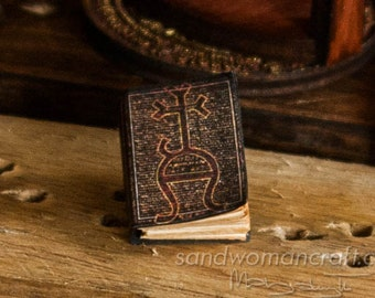 "Miniature book ""Defence Against The Dark Arts"", Dollhouse Miniatures 1/12 scale, 1 inch scale, paper cover. Magic study, classes, students"