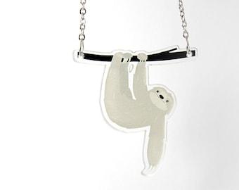 Acrylic Necklace SLOTH II Finart-Jewellery