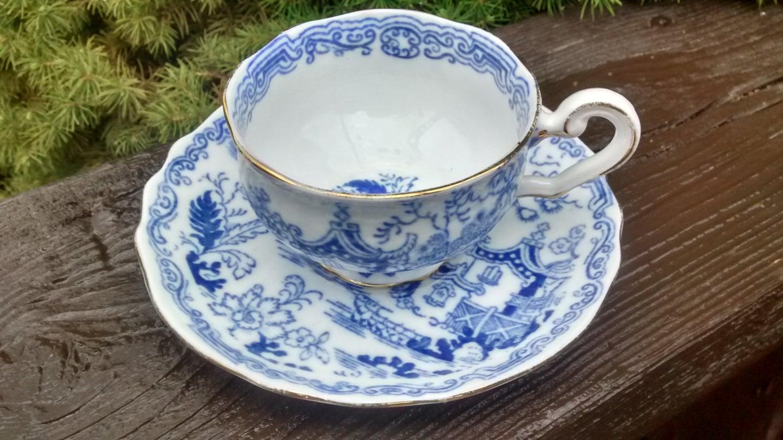 royal albert blue willow demi tasse cup saucer set bone