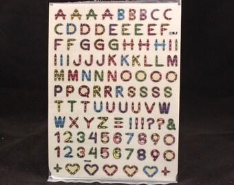 Sealed Vintage Big Alphabet Self Adhesive Seals.
