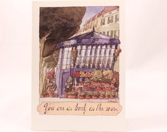 Greeting Card by Flavia. Artwork Giovanni Manna. 1 Card and 1 Envelope Included