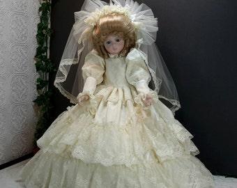 Porcelain bride doll Etsy