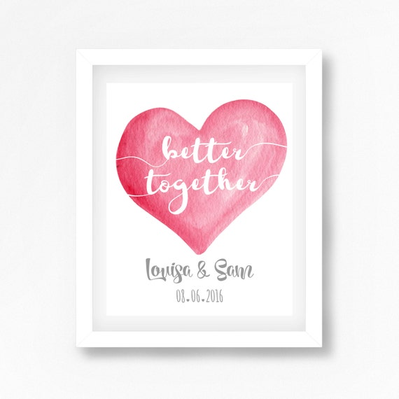 Wedding Gift Personalised, Wedding Gift for Couple, Better Together ...
