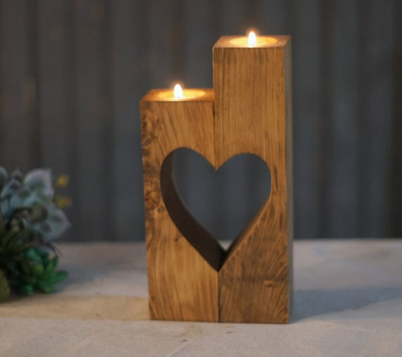 Reclaimed wood candle holder rustic tealight by gftwoodcraft Wood candle holders