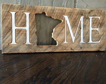 Reclaimed Home State Sign - Home Decor