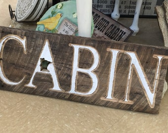 Reclaimed Cabin Minnesota State Sign - Home Decor - Cabin Decor - Rustic Sign