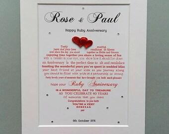 Wedding Anniversary gift, Happy Anniversary, gepersonaliseerd geschenk, gepersonaliseerd Anniversary Gift
