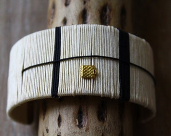 Cuff, son of off-white and black jade, small pendant charm bracelet
