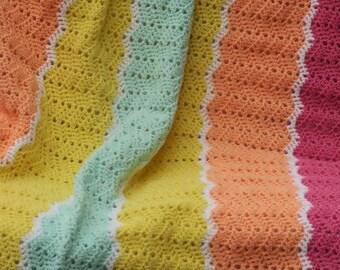 Baby Girl's Ripple Blanket
