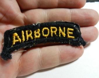 Vintage Vietnam War Velvet 101st Airborne Tab