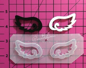 ON SALE Kawaii wings flexible plastic resin mold
