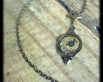 Victorian Steampunk Clockwork Necklace