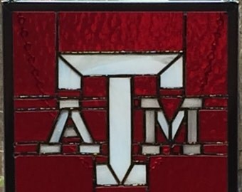 Texas A&M  in stained glass
