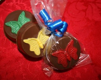 20 Chocolate Covered Oreo BUTTERFLY Party Favors