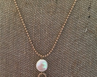 1/2 OFF SALE- Gold Cross Necklace with Pearl Accents- Gold Cross Necklace- Cross Necklace- Western Cross Necklace- Western Accessories-