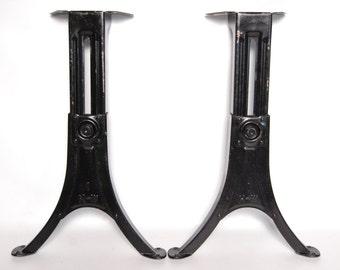 Antique Heywood Wakefield Adjustable School Desk Table Legs Steel Base Vintage