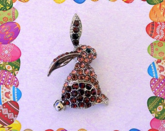 50% SALE Bunny Pin..Rabbit Pin..Bunny Brooch..Rabbit Brooch..Easter Bunny..Easter Jewelry..Bunny Jewelry..Rabbit Jewelry Easter Gift For Her