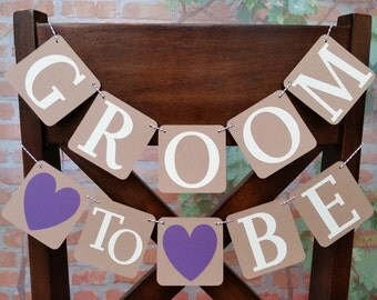 Groom To Be Banner Chair Banner, Co-Ed Bridal Shower Decoration, Groom To Be Chair Sign, Co-Ed Bridal Sign, Co-Ed Shower Chair Decoration