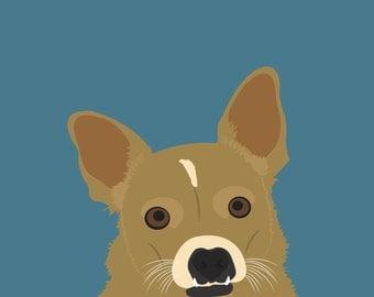 Custom Pet Illustrated Portrait