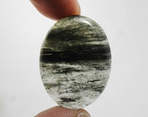 Black Rutile cabochon 32 ct (29x21x5 mm) Natural gemstone oval shape -Stone of Self-reliance  NS-4258