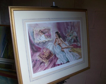 Framed,Mounted and signed Limited Edition Print Camille by Gordon King