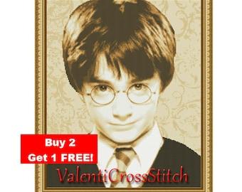 Harry Potter Cross Stitch Pattern,counted cross stitch patterns, movie cross stitch