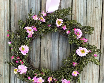 Spring Wreath, Rustic Spring Wreath, Wreath For Door,Rustic Wreath, Spring Door Wreath, Wedding Wreath, Summer Wreath For Door, Home Decor