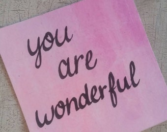 Mini Positive Affirmation Paintings