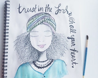 Trust in the Lord - Art Print - 8X10