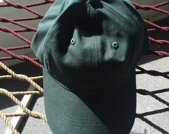 Forest Green - Plain Cap with Metal Adjustable Buckle