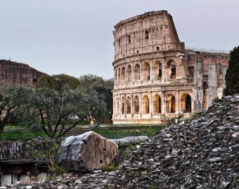 Italy Photography, Roman Colosseum, Rome, Roma, Italian Art, Italian Photography, Roman Forum, Italy Fine Art
