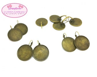 10 sleepers Bronze Cabochon Tray 25mm