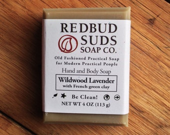 Wildwood Lavender Body Soap - natural soap, handmade soap, essential oils, blissfully scented! - by Redbud Suds