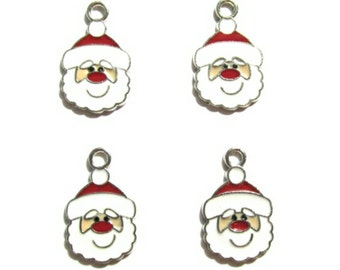 Santa Claus Charms ~ Christmas Charms ~ Holiday Charms | Jewelry Charms | Bracelet Charms | Necklace Charms