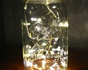 1 - 32oz (Qt) Mason Jar With Lights