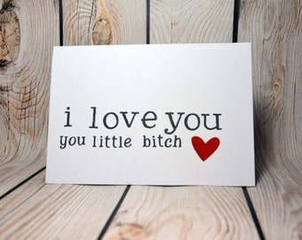 Anniversary/love/engagement/birthday card- blank  rude greeting card for the love of your life