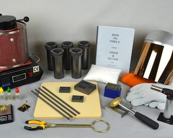 "3 Kg ""All Inclusive"" Gold Melting Electric Furnace Kit to Melt Gold, Silver, Precious Metals Cast and Stamp your own Ingot Bars! KIT-0046"