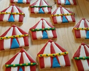 Circus Tent Sugar Cookies & Circus tent cookies   Etsy