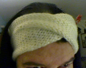 Knitted twisted or crossed headband