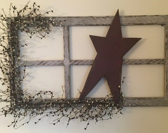 Country Primitive Indoor Star Window Frame