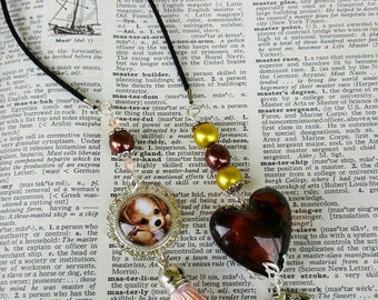 Love my Dog bookmark Dog Lover bookmark Brown Glass Beads Beaded bookmark Book accessories Tassle bookmark Dog Lover gifts