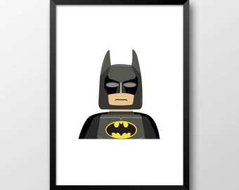 Batman Lego Print
