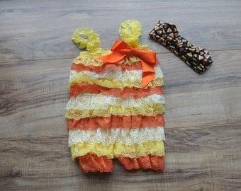 Halloween Baby Girl Petti Romper, baby romper, Baby girl Outfits, Baby Girl Clothes, Baby Lace Romper, baby clothes, baby gift, 1st Birthday