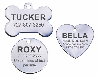 Stainless Steel Personalized Pet ID Tags