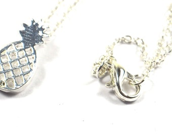 Silver Pineapple Fruit Necklace