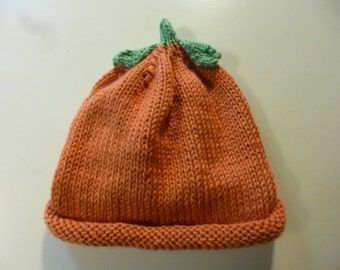 PUMPKIN Hat for babies.   0-6 months  FREE Shipping