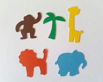 Jungle Animals Confetti - Set of 125 - Safari Theme - Baby Shower - First Birthday Party - Table Decor