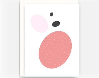 Blank Greeting Card Note Card A2 Card - Cell Theory No. 5